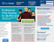BlueHost - Hosting Professionale ed Economico